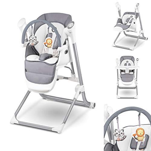 Lionelo-Niles-2en1-chaise-haute-bebe-et-balancelle-bebe-fonctionnement-silencieux-ceintures-de-scurit–5-points-barre–jouets-repose-pieds-plateau-rglable-gris-0
